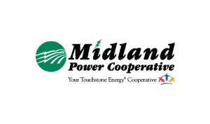 Bruce Lorie Voice Over Midland Power Cooperative Logo